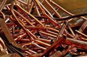 Schrottankauf Kupfer Haufen